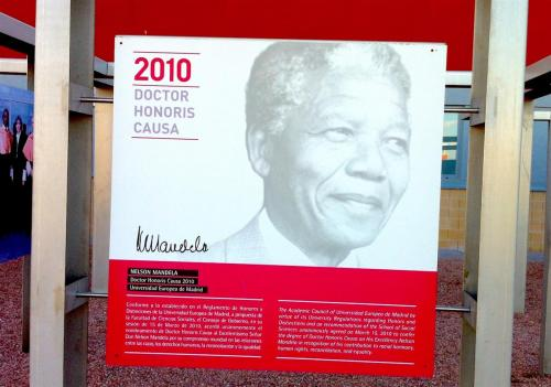 2013 - Nelson Mandela in Madrid, Spain
