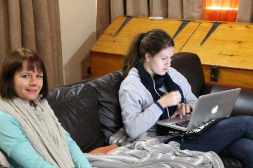There is always time to work. Cecile Reed and Julia van Velden
