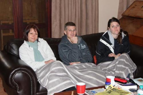 Getting colder... Cecile, David and Julia.