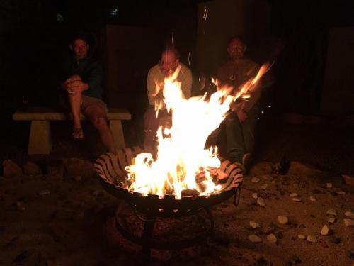A nice fire after the hard work